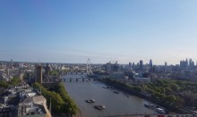 View from Millbank Tower's Altitude event space, overlooking London
